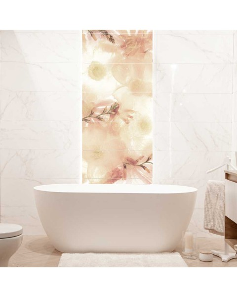 Декоративно пано от водоустойчиви стикери Анемония - за правоъгълни плочки