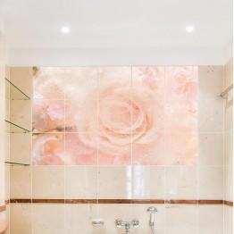 Водоустойчив фото арт Розоцветни - квадратни плочки
