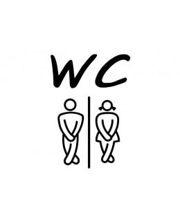 Стикер с пиктограми - WC