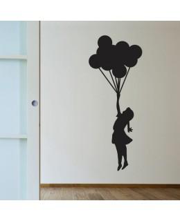 Момиченце с връзка балони (Bansky)