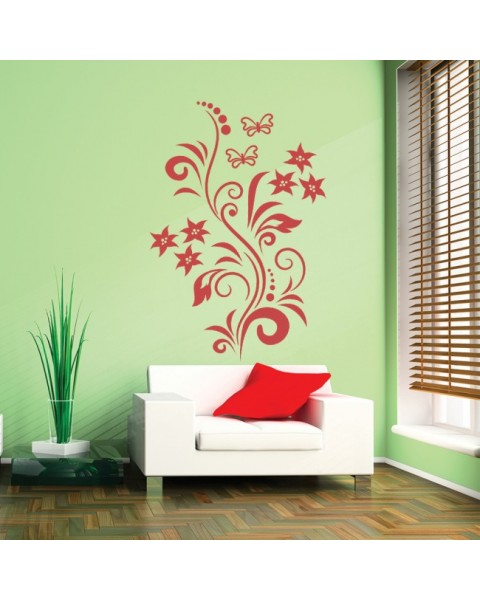 Орнамент с цветя и пеперуди
