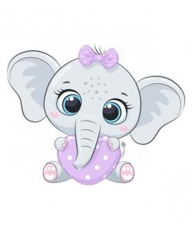 Бебе слонче със сърчице