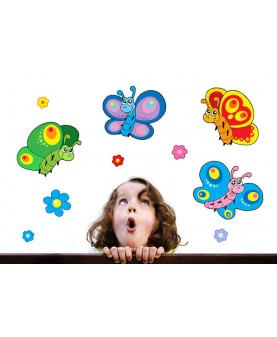Детски комплект пеперуди и цветя