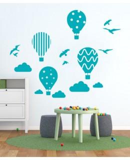 Балони с горещ въздух и птици