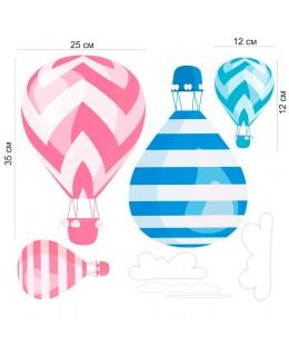 Цветни балони с горещ въздух