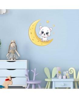 Сладко коте луна и звезди