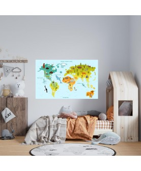 Карта на света с животни 1
