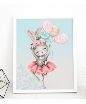 My tutu - Зайче 1, постер с рамка