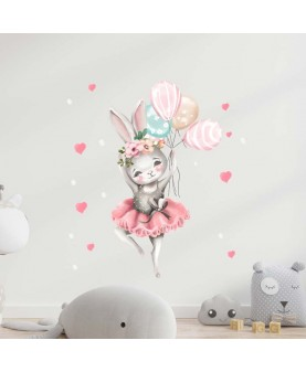 Зайче балерина - стикер за стена