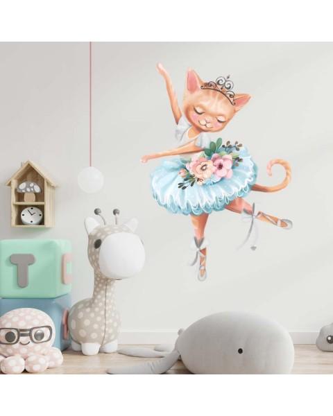 My tutu - Котка балерина, стикер за стена