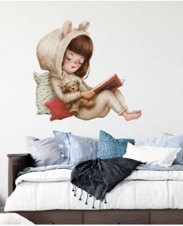 Големи приятелства - Момиченце с книжка, стикер