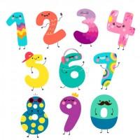 Забавни цифри - цветни