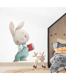 Горски зайчета Херси - Зайче с книжка, стикер