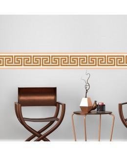 Гръцки мотив - фриз за стена в кафяво