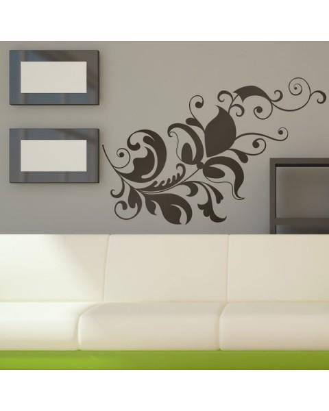 Флора декора - декоративен стикер за стена