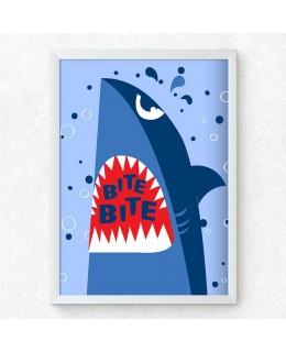 Акула 2 - Bite Bite, постер с рамка