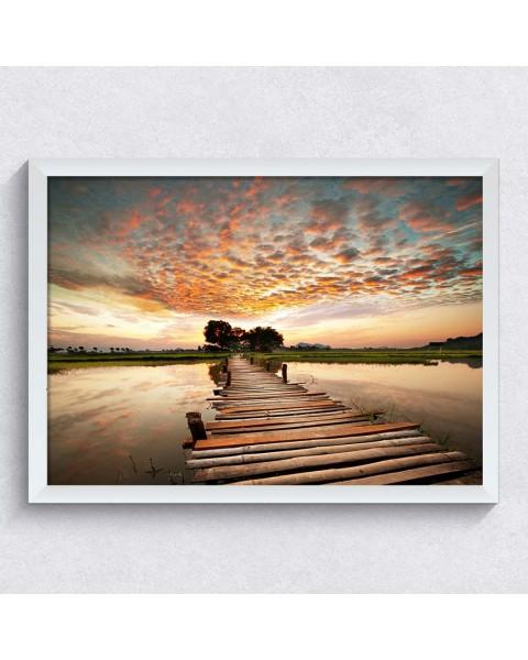 Мост над реката - Картина