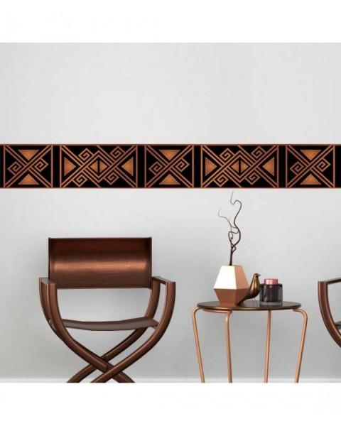 Мотив Бронз - фриз за стена в кафяво