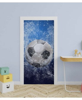 Футболна топка - стикер за врата