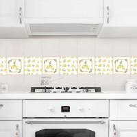 Акварелни лимони - 4 бр. стикери за плочки