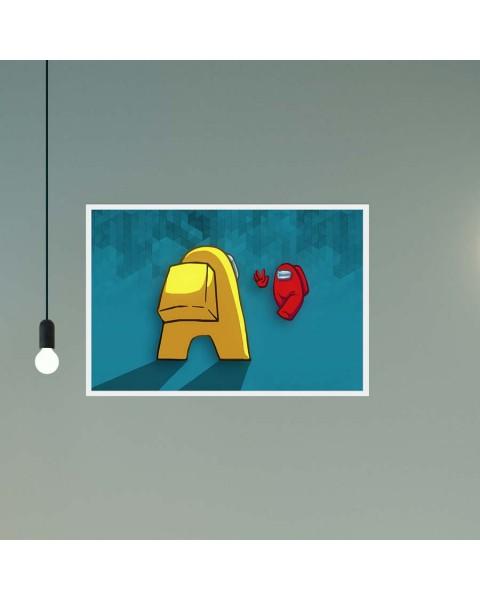 Амонгъс Hello - постер с рамка