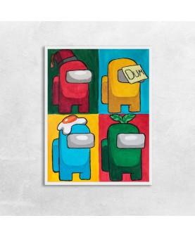 Амонгъс Pop Art - постер с рамка