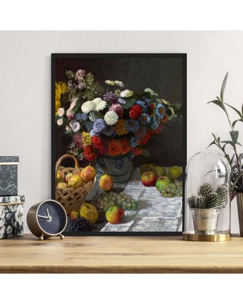 Цветя и плодове - Репродукция, Клод Моне