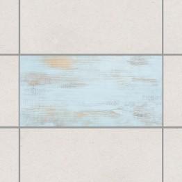 Декупаж в синьо - 4 бр. деко стикери за плочки