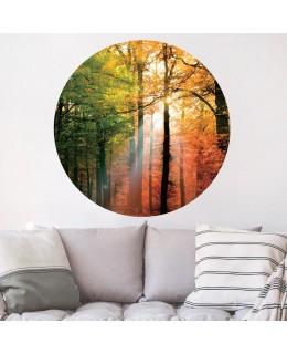 Есенна гора - стикер кръг