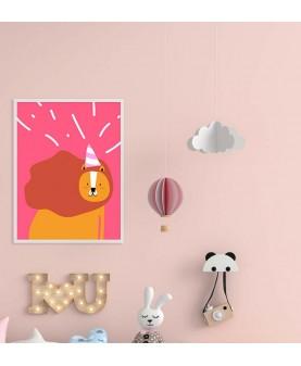 Щуро парти Lion - Постер с рамка