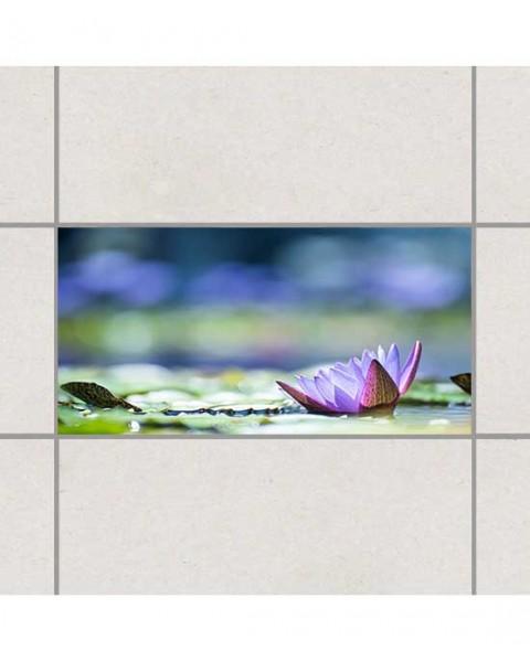 Цветно езеро - деко стикери за плочки