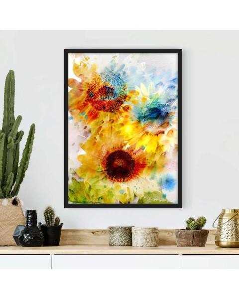 Пъстри слънчогледи - Картина