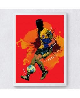 Футболист - Постер с рамка