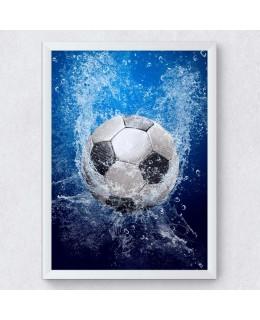 Футболна топка - Постер с рамка