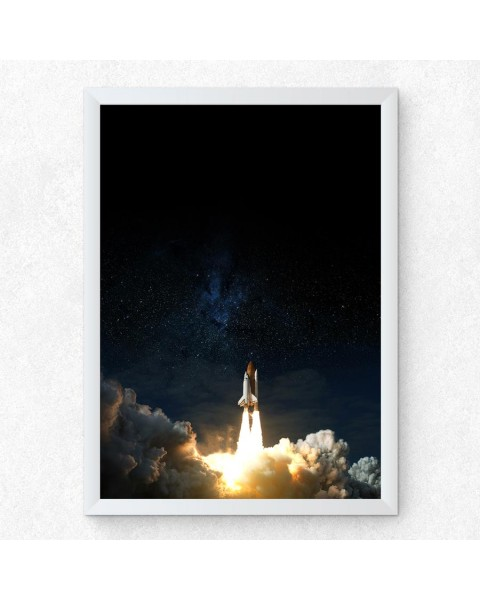 Космическа совалка 1 - постер с рамка