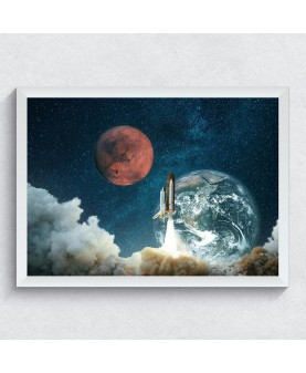Космическа совалка 2 - постер с рамка