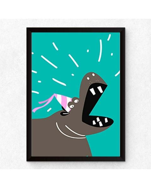 Щуро парти Hippo - Постер с рамка