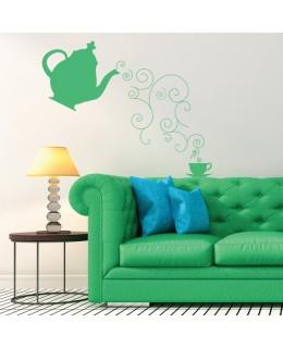 Чайник и чаша чай