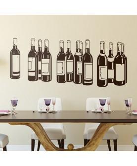 Бутилки с червено вино
