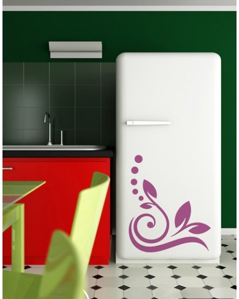Флорален стикер за хладилник