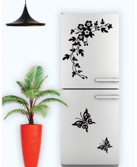 Орнамент с пеперуди и маргарити