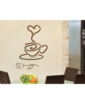 Кафе, роза и сърце