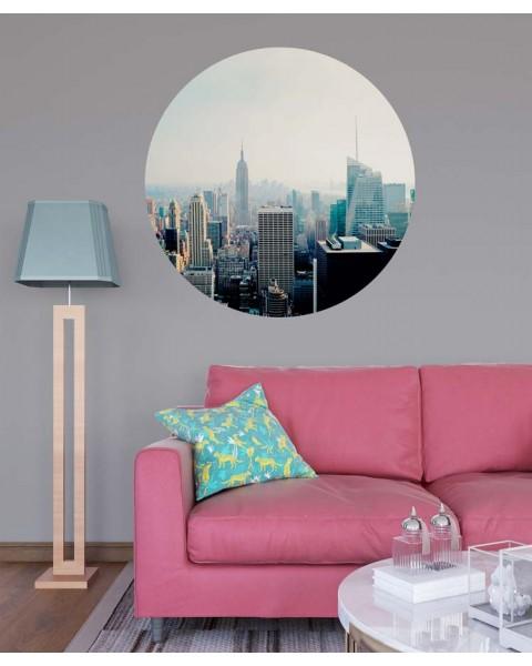 Над Ню Йорк - стикер кръг