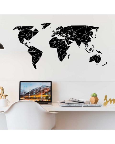 Карта на света - оригами