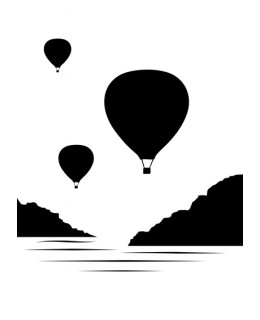 Пейзаж с горещи балони