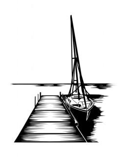 Пристан с лодка