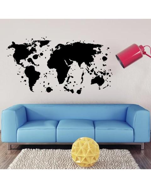 Kарта на света - графити