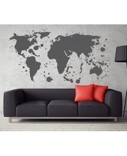 Карта на света - графити