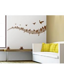 Петолиние с ноти и птици