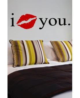 Стикер със целувка I  :*  y o u.